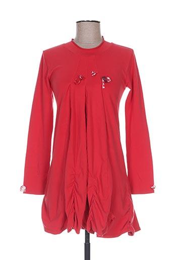 eliane et lena robes fille de couleur rouge