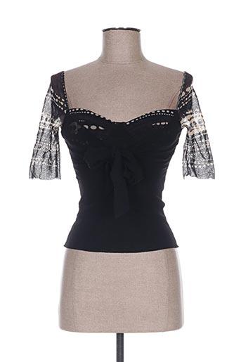 fuzzi chemises femme de couleur noir