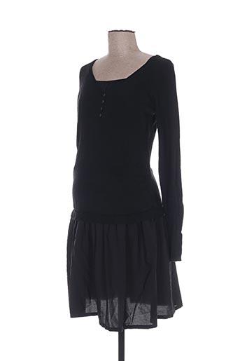Robe mi-longue noir COLLINE pour femme