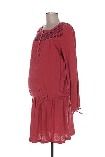 Robe mi-longue rouge COLLINE pour femme