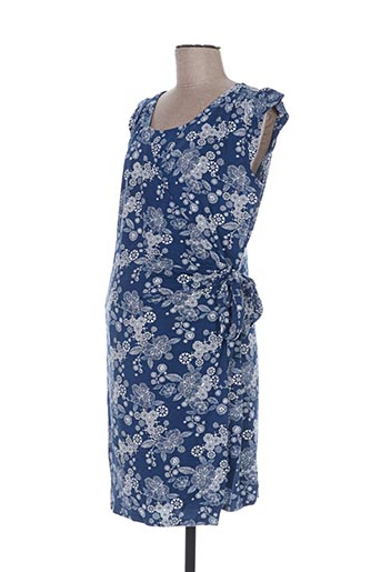 Robe mi-longue bleu COLLINE pour femme