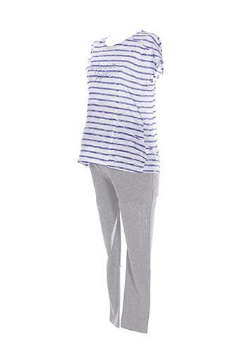 Top/pantalon bleu COLLINE pour femme