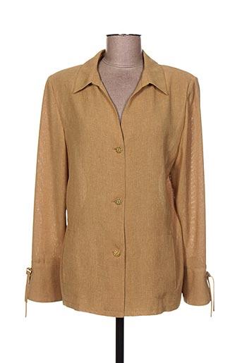 nominal vestes femme de couleur beige