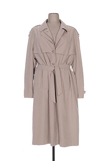 arielle manteaux femme de couleur beige