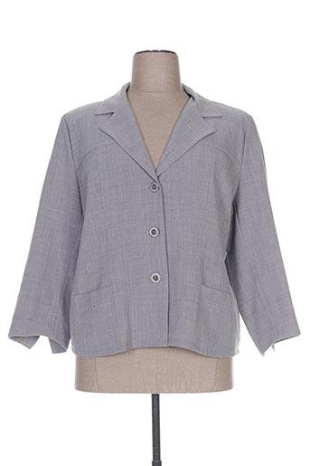 Veste casual gris GEVANA pour femme