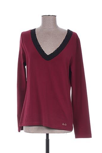 T-shirt manches longues rouge PAUL BRIAL pour femme