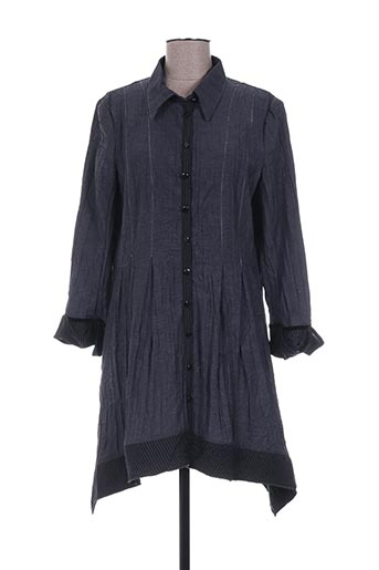 Robe mi-longue gris DINOTZO pour femme