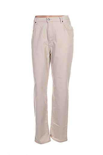 ober pantalons femme de couleur beige