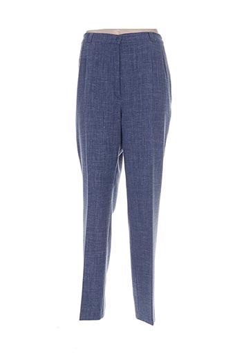 maryvet pantalons femme de couleur bleu