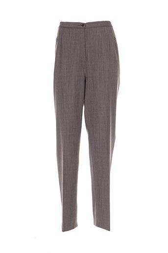 maryvet pantalons femme de couleur marron