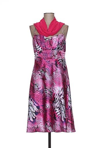 Robe mi-longue rose FASHION NEW YORK pour femme