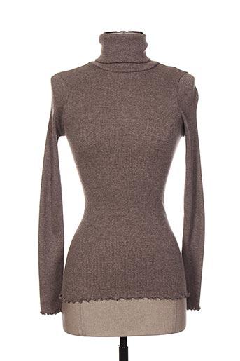 moretta chemises femme de couleur marron