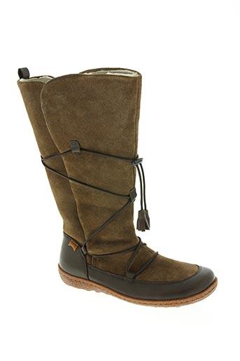 camper chaussures femme de couleur marron