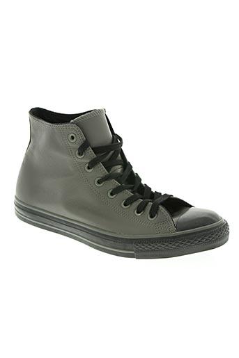 converse chaussures homme de couleur gris