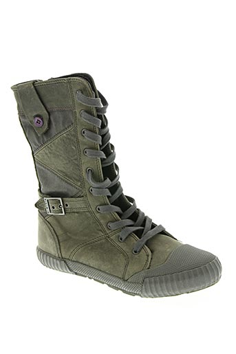 Bottines/Boots vert PALLADIUM pour fille