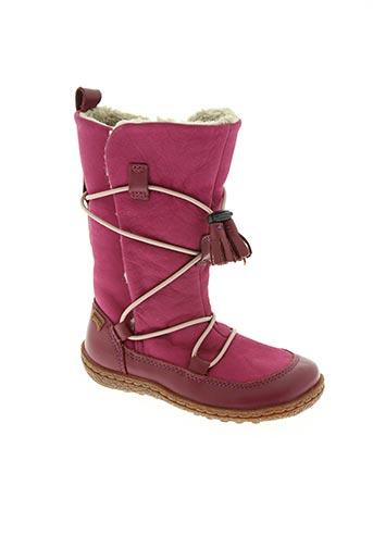 camper chaussures fille de couleur rose
