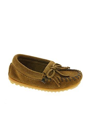 minnetonka chaussures enfant de couleur marron