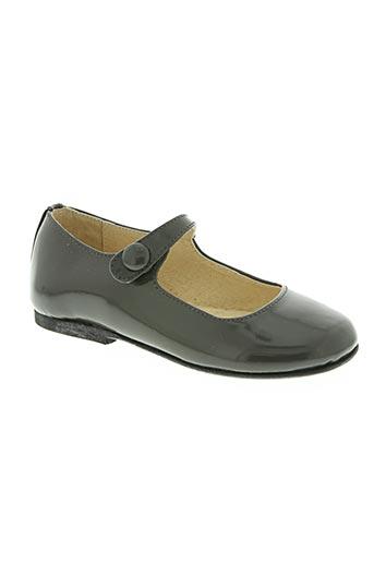 chocolate chaussures fille de couleur gris
