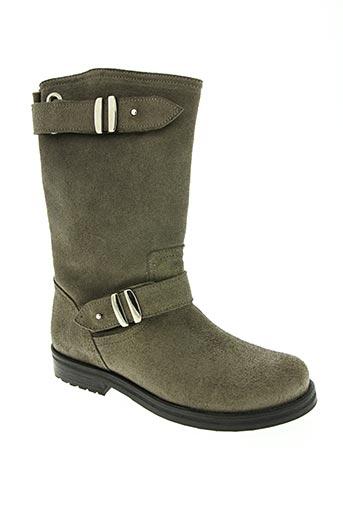 ubik chaussures fille de couleur gris