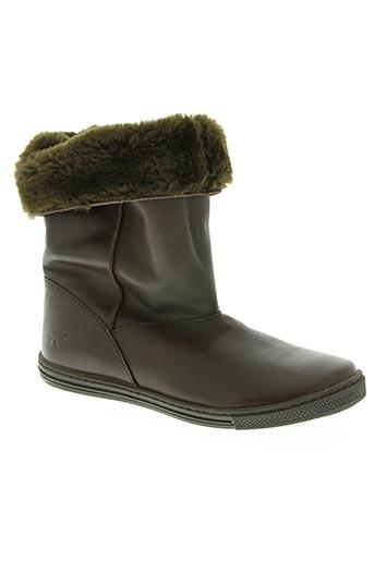 knepp chaussures fille de couleur marron