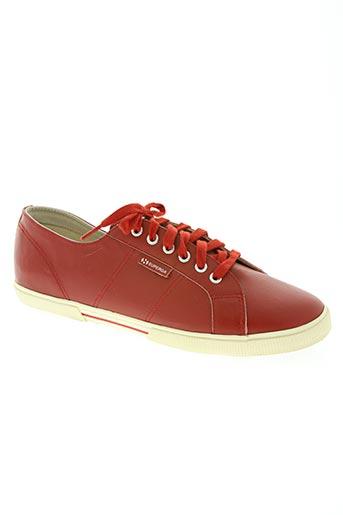 superga chaussures homme de couleur rouge