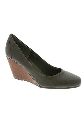 esprit chaussures femme de couleur marron