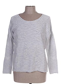 Pull col rond bleu ESE O ESE pour femme