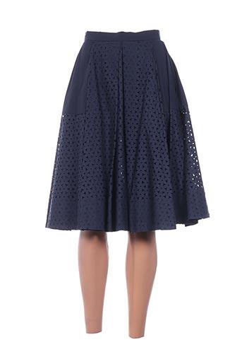 Jupe mi-longue bleu TARA JARMON pour femme
