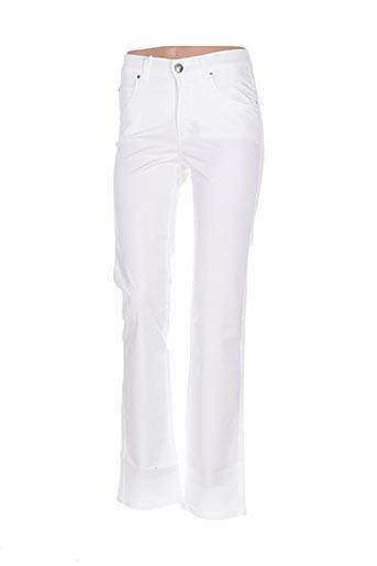 Pantalon casual blanc DISMERO pour femme
