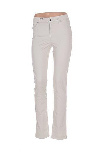 Pantalon casual gris DISMERO pour femme