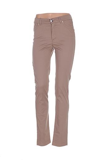 Pantalon casual marron DISMERO pour femme