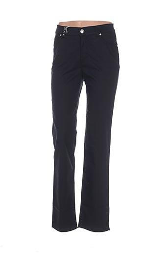 Pantalon casual noir DISMERO pour femme