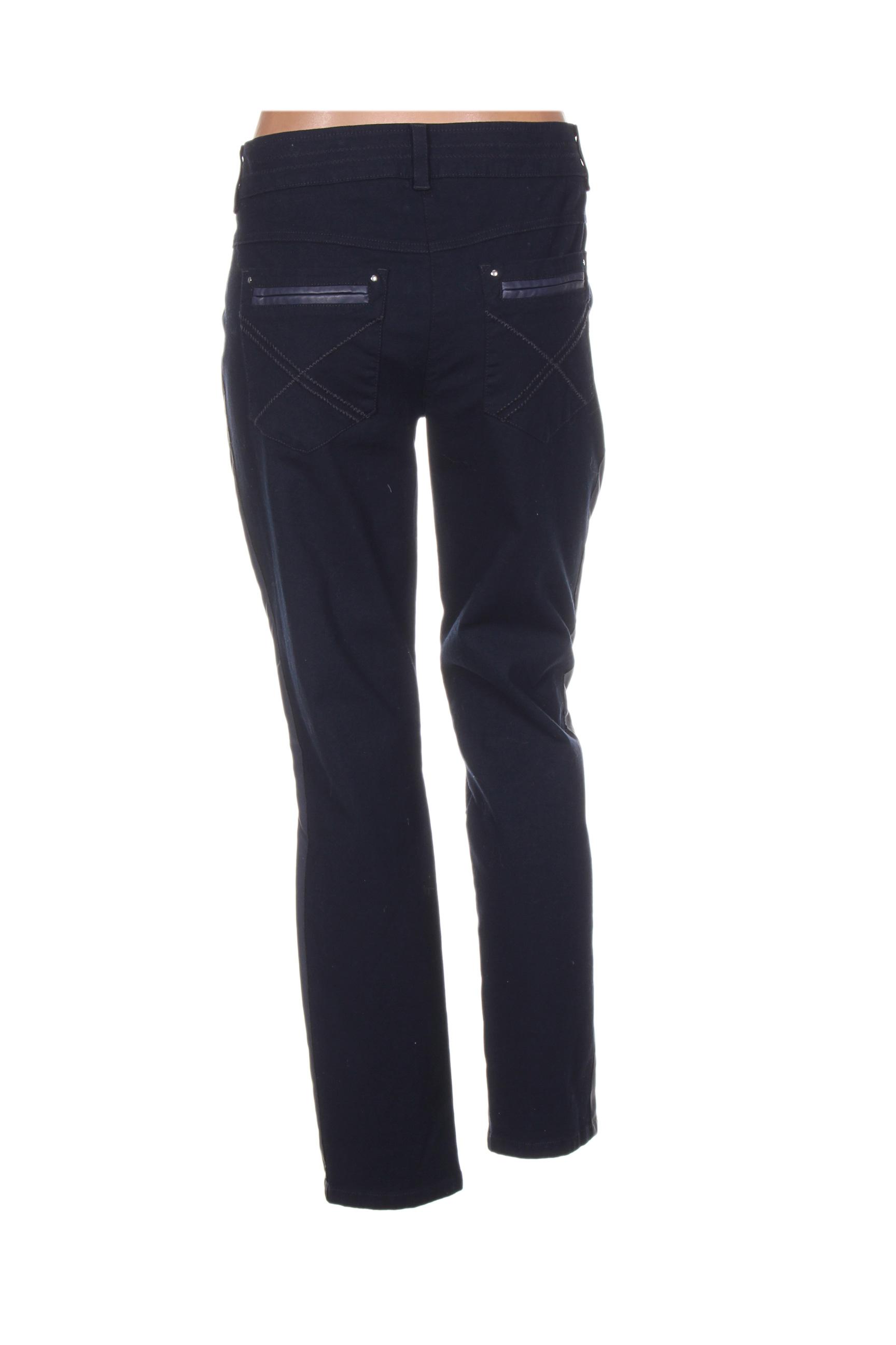 Sportalm Pantalons Decontractes Femme De Couleur Bleu En Soldes Pas Cher 1234963-bleu00