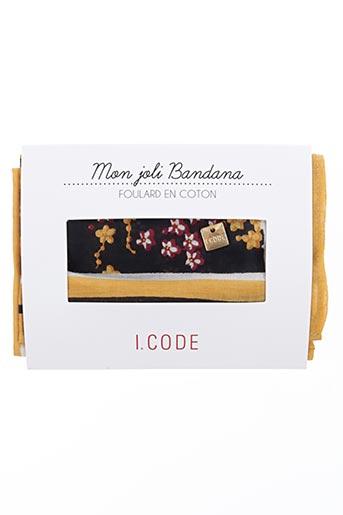 i.code (by ikks) accessoires femme de couleur jaune