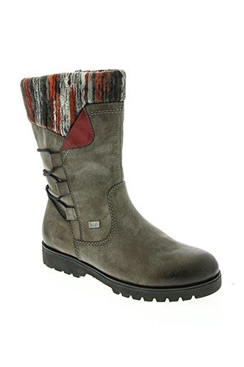 rieker chaussures fille de couleur gris