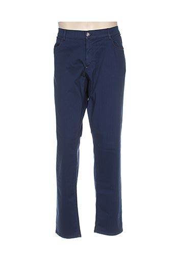trussardi jeans pantalons homme de couleur bleu