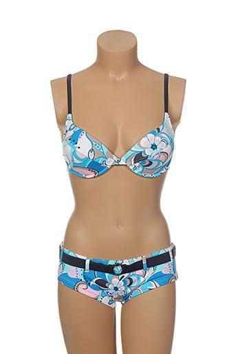olympia maillots de bain femme de couleur bleu