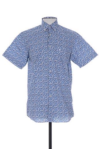 ted lapidus chemises homme de couleur bleu
