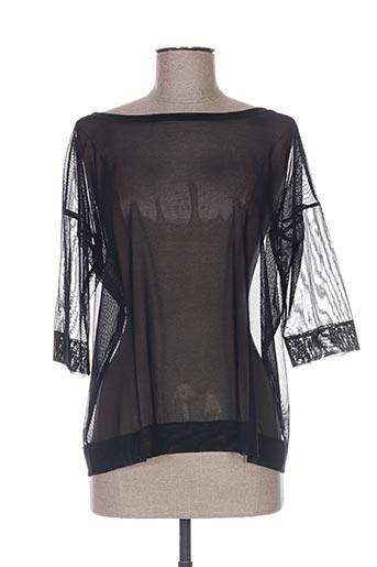 fraly chemises femme de couleur noir