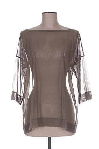 fraly chemises femme de couleur marron