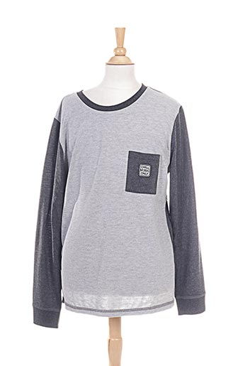 chillaround t-shirts garçon de couleur gris