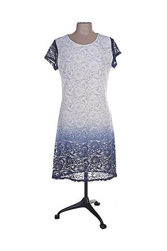 Robe mi-longue bleu ANNA MUR pour femme