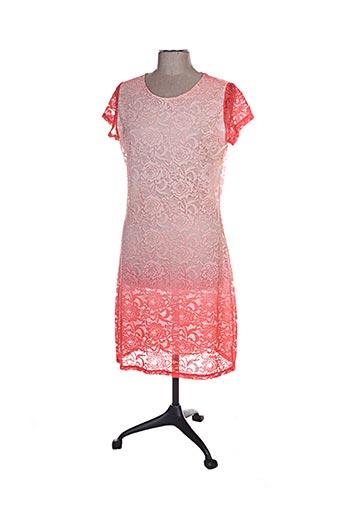 Robe mi-longue orange ANNA MUR pour femme