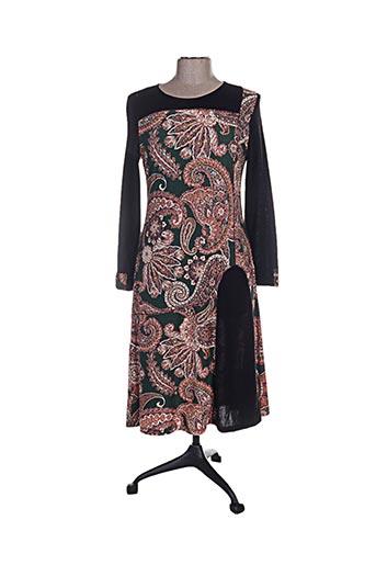 Robe mi-longue vert ANNA MUR pour femme
