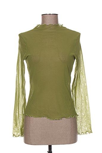 heteroclite chemises femme de couleur vert