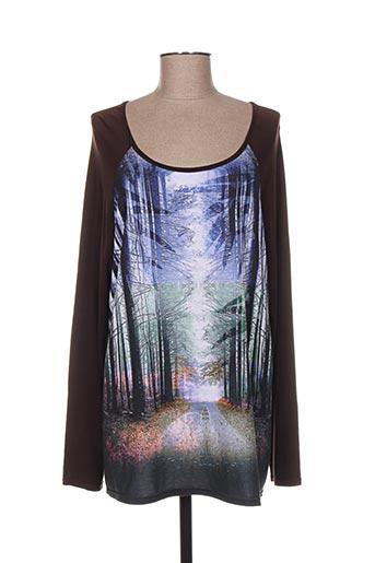 T-shirt manches longues marron ANNA MUR pour femme