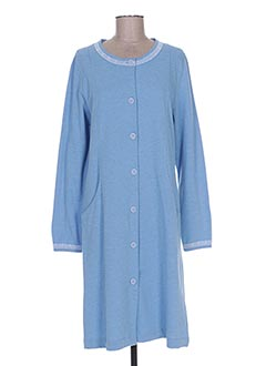 Robe de chambre bleu MASSANA pour femme