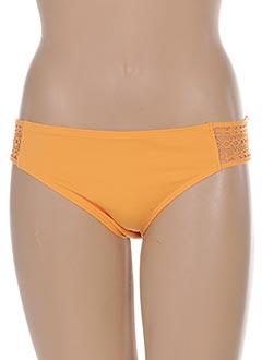 Bas de maillot de bain orange EMPREINTE pour femme