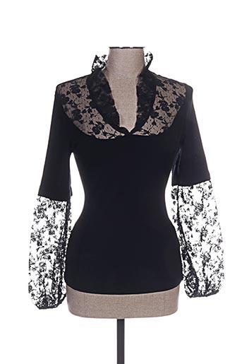 oscalito chemises femme de couleur noir