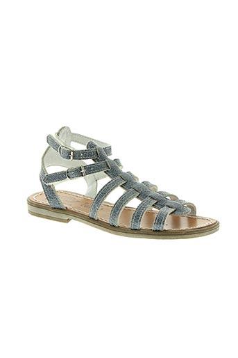 bellamy chaussures fille de couleur bleu